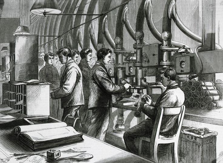 Mit Druck in den Untergrund:  Diese Zeichnung von 1897 Zeigt Vorbereitung und...