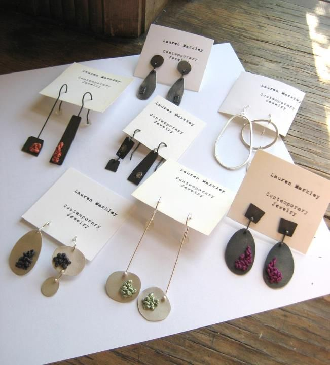 AntiGenre Jewelry (Lauren Markley) - earrings at Tilde, one of her retailers in Portland