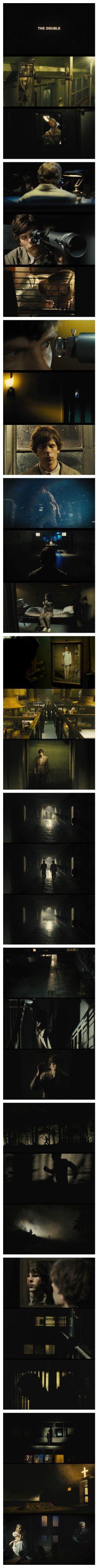 The Double (2013) Directed by: Richard Ayoade Cinematography: Erik Wilson Cameras: Arricam ST/LT Format: 35mm (Kodak Vision3 200T 5213, Kodak Vision3 500T 5219) Mode: Spherical (3-perf) Aspect Ratio: 1.85:1