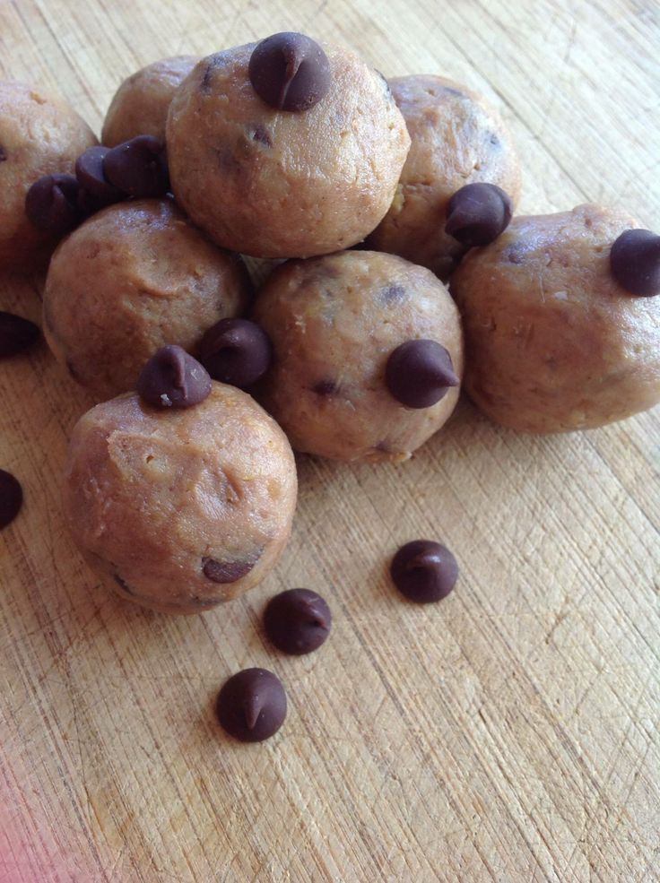 Chick Pea Cookie Dough Balls!!