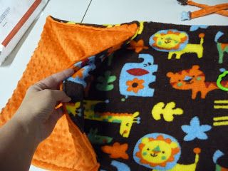 Fast and easy instructions for making a stroller blanket ~ I Love Cloth Diapers!