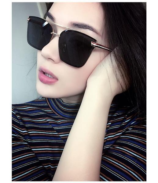 220401cd8ca3 2017 New Sunglasses Women Men Oversized Square Glasses UV400 Vintage Brand Lady  Rose Gold Cat Eye Designer Eyeglasses Twin-Beam