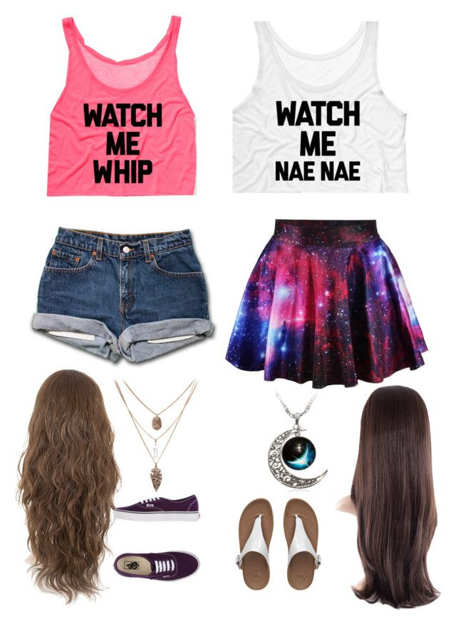"""""""Me and bff outfit"""" by haleighmillard ❤ liked on Polyvore featuring Vans and FitFlop"""