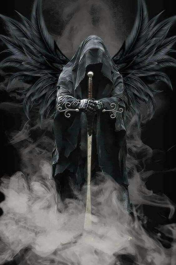 Pin De Ray Carter En Skulls Grim Reapers Etc Tatuajes De Angeles Guerreros Arte Sobre La Muerte Angeles Y Demonios