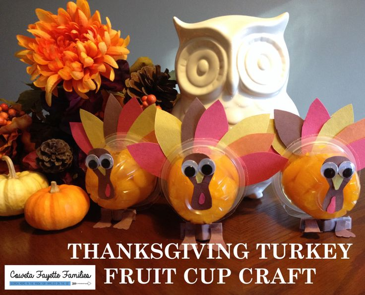 Classroom Decor Gifts ~ Thanksgiving turkey fruit cup craft