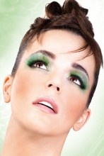 These long, glamorous, diversified, hand-worked, funky light green eyelashes are ideal for going out, attracting attention, and flirting. Includes skin adhesive for a light and comfortable application. Color: light green #eyes - $4.95