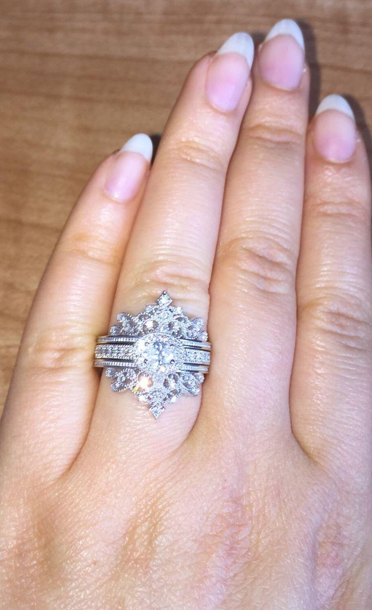 Diamond Engagement and Wedding set for a princess, Wedding Rings, Breathtaking…