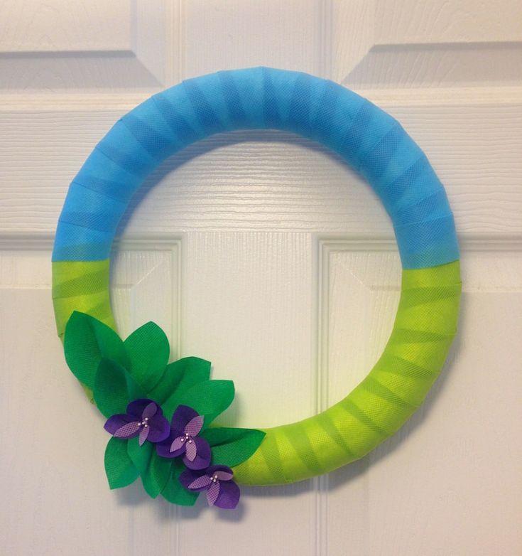 spring wreath by lisa fulmer