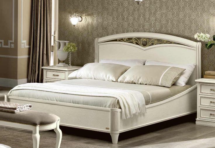 Λευκό Vintage Κρεβάτι Με Χαμηλό ή Ψηλό Ποδαρικό CG-370143/1