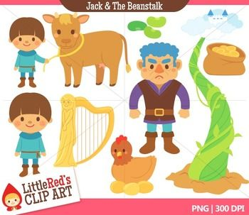 Clip Art - Jack and the Beanstalk - Fairy Tale Clipart