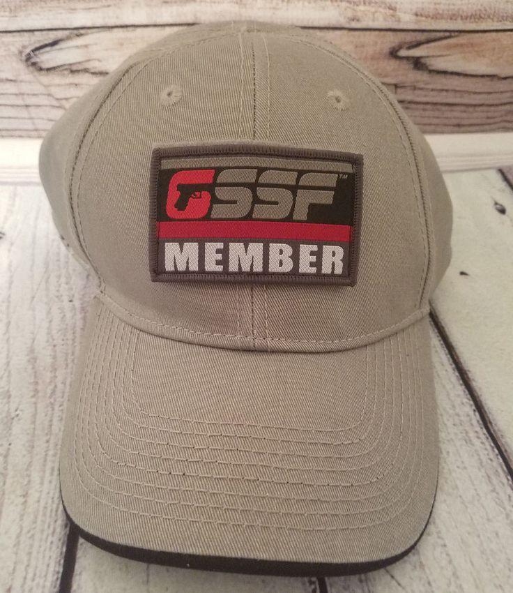 GLOCK Firearm Gun GSSF Sport Shooting Foundation Members Cap Hat Gray Strapback #Glock #BaseballCap