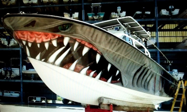Shark Cool Boat Paint Job Creative Paint Jobs