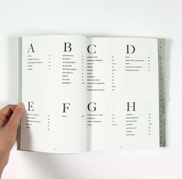 100 Exclusive Brands Index by Mica Martino, via Behance