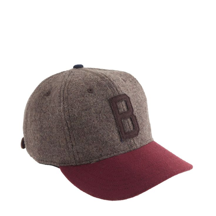 Ebbets FIeld Flannels for J.Crew men's Brown Bombers cap in Harris Tweed.