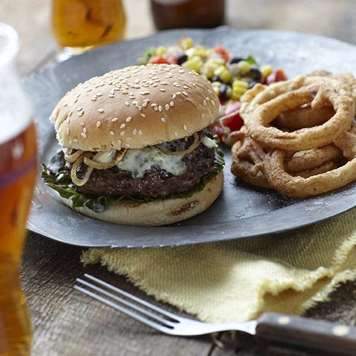 Boston Lager Smoked Gouda Cheeseburgers: A Recipe from BBQ'd Productions - The Samuel Adams Blog #BTAD #BostonLager #CookingWithBeer #BBQ #Grilling