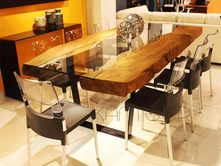 Las 25 mejores ideas sobre mesas de parota en pinterest - Mesa madera y vidrio ...