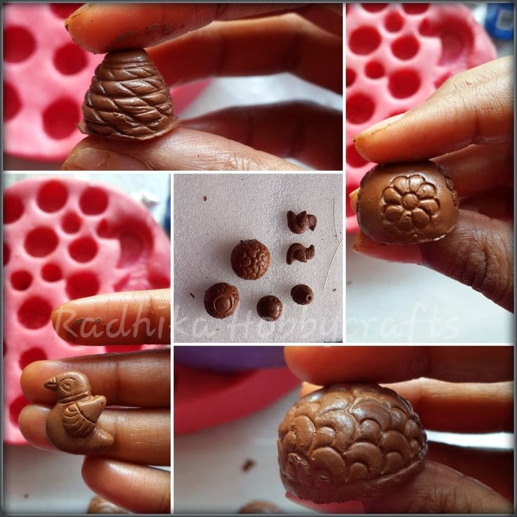 Hobby Crafts :): Air dry Terracotta jhumkas Tutorial using Moulds