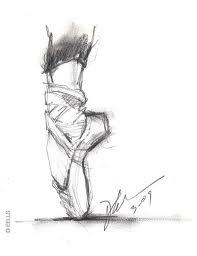 sketched ballerinas