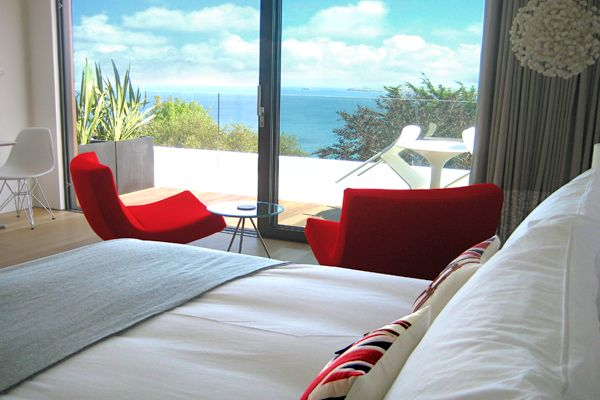 A room with a view at Salt House.  This holiday home in St Ives sleeps 10. #selfcatering