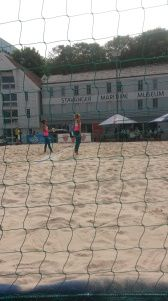 People playing Beach Volley