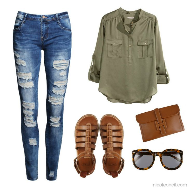 How to Style Khaki  Casual Khaki Outfit for Spring, Fall and Autumn