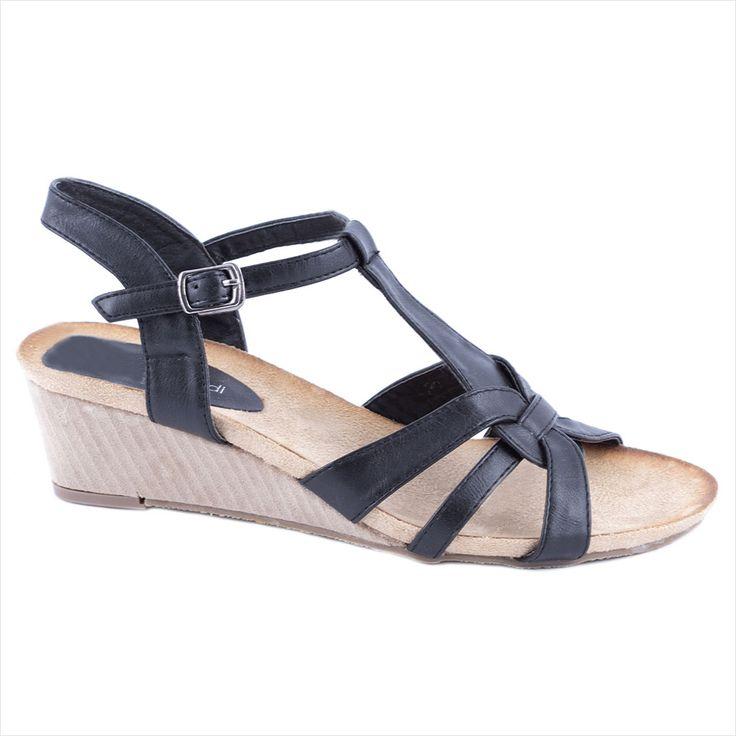 Sandale negre de dama 90063N - Reducere 42% - Pret 34.99 lei - Zibra