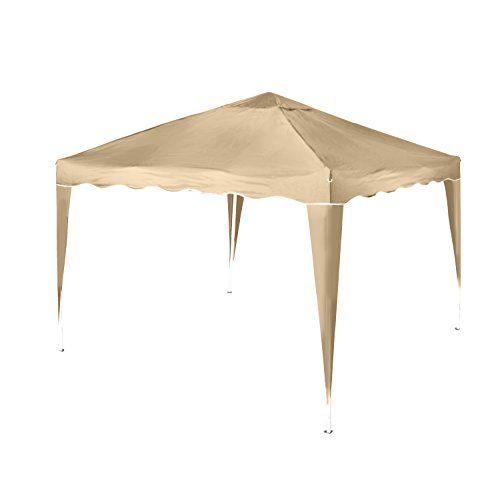 Vanage Pavillon Aluminium-Faltpavillon Stella inklusiv 0 Seitenteilen, beige