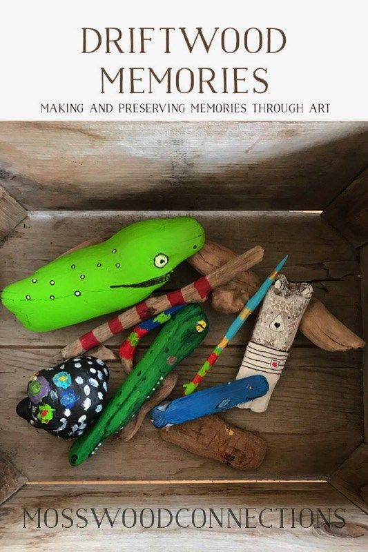 Driftwood art makes driftwood memories. How found treasures can turn into a magical parenting moment of bonding with their children,