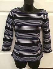 J Crew Madewell Womens Boat Neck Heavy Cotton TOP Shirt Blouse Striped XS Blue   eBay