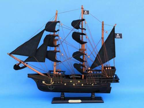 """Wooden Captain Kidd's Adventure Galley Model Pirate Ship 20"""""""""""