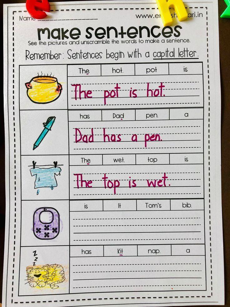 phonics sentences worksheets pack FREE www Kindergarten