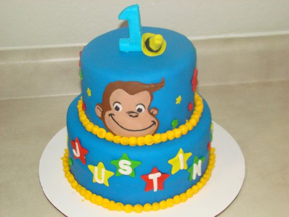 Edible Cake Images Curious George : Curious George Edible Cake Decorations by TutuCuteCakes on ...