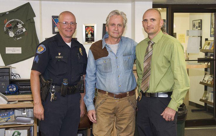 Farmington Police Department Sergeant Monfils, Michael Douglas and Lieutenant Taft Tracy