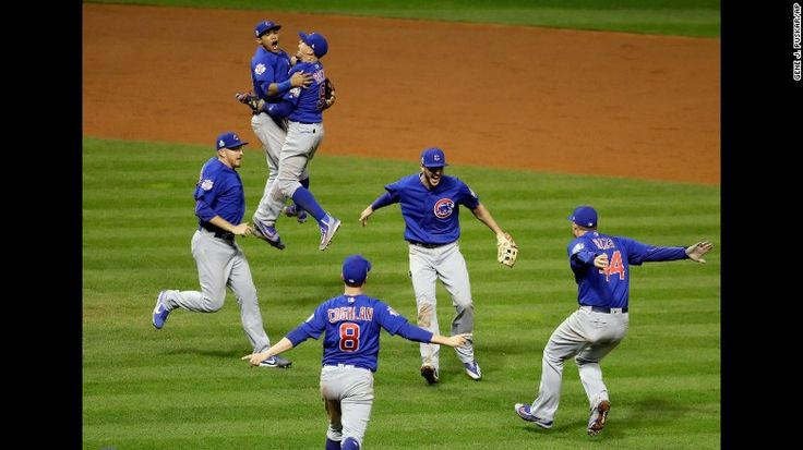 """The Chicago Cubs celebrate after defeating the Cleveland Indians in Game 7 of the World Series on Thursday, November 3. The Cubs won 8-7 in 10 innings to win the series 4-3. The billy goat curse is dead. The Chicago Cubs are World Series champions at long last, winning their first Fall Classic <a href=""""http://www.cnn.com/2016/10/25/sport/gallery/last-cubs-world-series-win/index.html"""" target=""""_blank"""">in 108 years</a>."""