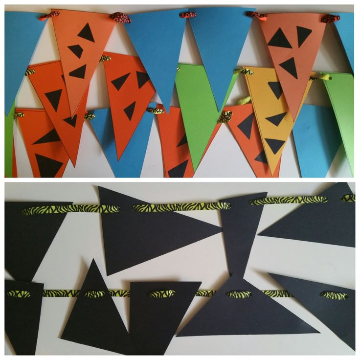 Flintstones-Themed Kids Party Decorations Package by ColorPulseDesigns on Etsy