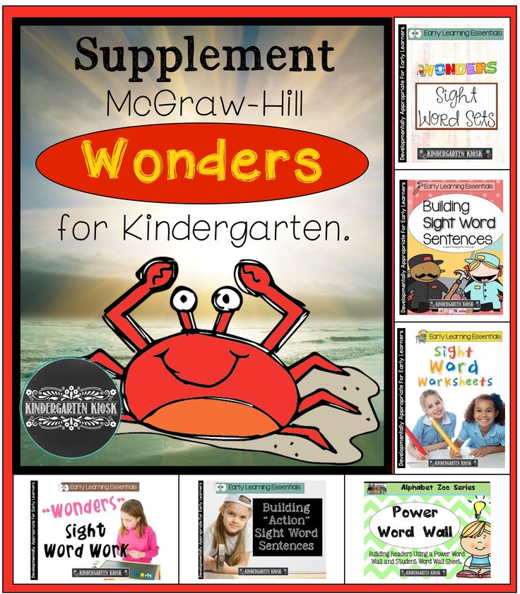 McGraw Hill Reading Wonders for Kindergarten                                                                                                                                                      More