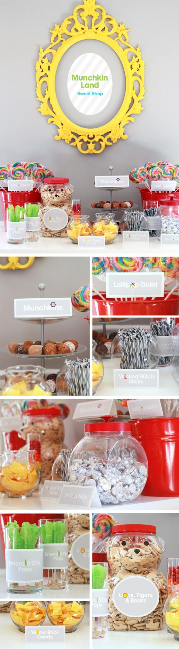 This is the most clever child's party I have seen in a long time. Heck...I would LOVE to have this theme for my own party!! LOL totfudge_oz_munchkinland_600x2175