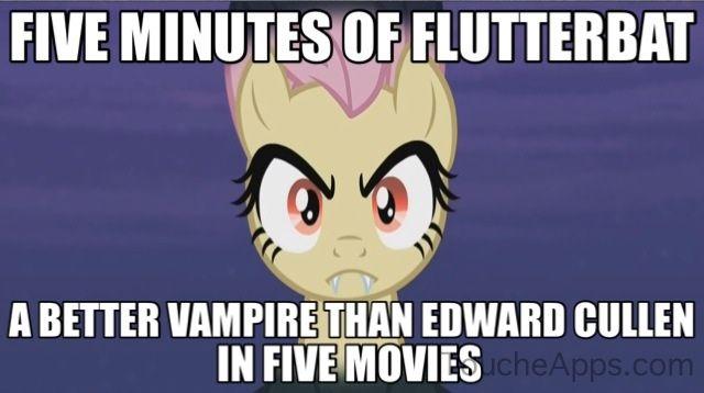 This is true! I love Flutterbat! I want a Flutterbat T-shirt!