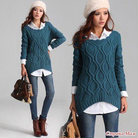 Связать свитер для беременных