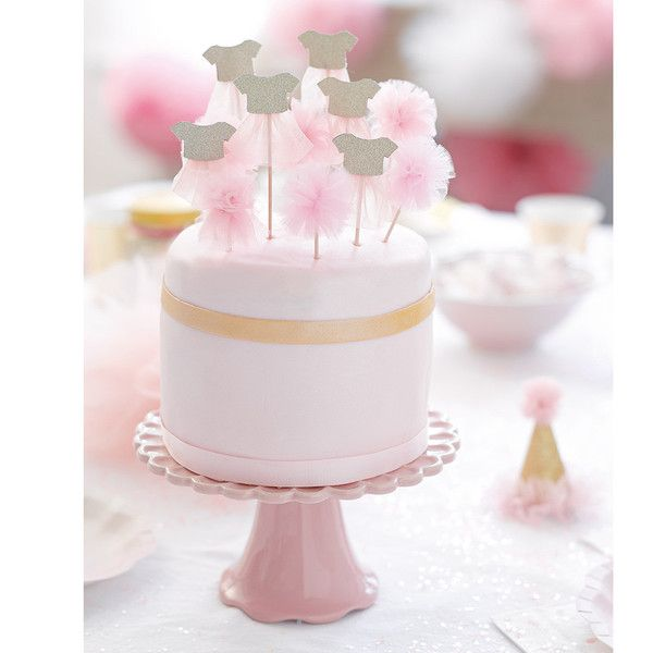 We Heart Pink & Gold Cake Toppers