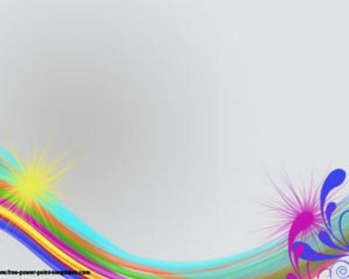 Rainbow Colors Microsoft PowerPoint Templates