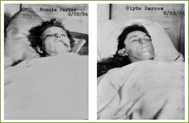 Bonnie and Clyde Dead - Morgue Photo - February 23, 1934