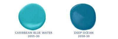 Benjamin Moore Colors Caribbean Blue Water 2055 30 Deep