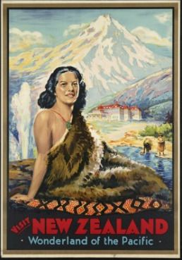 New Zealand: Wonderland of the Pacific Vintage Poster for Sale - NZ Art Prints ($50-100) - Svpply