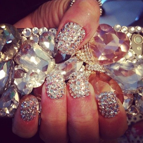 Diamond nails: Diamonds Nails, Nails Art, Best Friends, Nails Design, Glitter Nails, Crystals Nails, Bling Nails, Sparkly Nails, Bling Bling