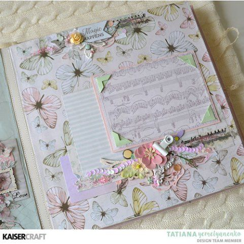 """Fairy Garden"" Album (25x25cm)   [view I] by Tatiana Yemelyanenko Design Team Kaisercraft Official Blog. Featuring their March 2018 'Fairy Garden' collection. Learn more at kaisercraft.com.au - Wendy Schultz - Kaisercraft Projects."