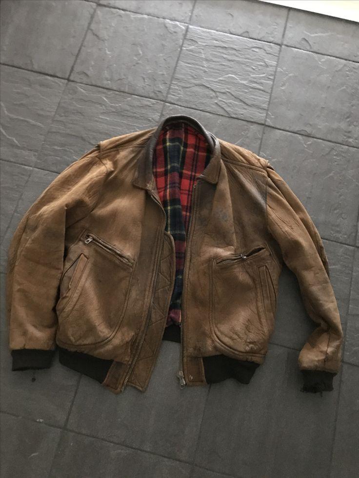 80s Charles Chevignon Old Flight Jacket