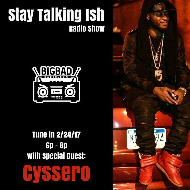 Make sure y'all tune in to the Stay Talking Ish radio show this Friday 6-8p. We'll have @cyssero_atlasbws in the building.  If you don't have the app go to google play or the App Store and download Big Bad Radio immediately.... You can always call in & contribute to our conversation at 855-924-4223  #staytalkingishradio #bigbadradio #hiphop #rap #music #beats #dope #trap #nyc #realhiphop #soundcloud #mixtape #brooklyn #newyork #philly #philadelphia #215 #nj #southjersey #phillysupportphilly…