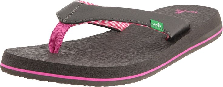 Sanuk Women's Yoga Mat Flip Flop - Gunmetal - 10 >>> Check out this great image  : Sanuk flip flops