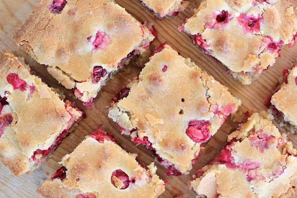Recipe: Cranberry Orange Blondies, I actually made these and they are AMAZING!